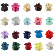 Flower Top Wedding Favour Boxes - Different Colours - SC16